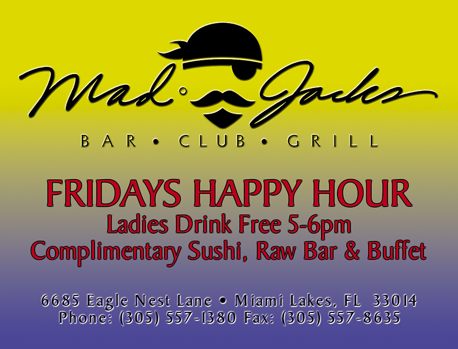 Fridays Happy Hour at Mad Jacks