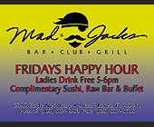 Fridays Happy Hour at Mad Jacks - 1313x1000 graphic design