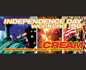 Independence Day Weekend at Club Cream - tagged with fireworks