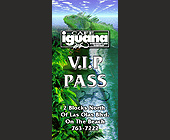 Cafe Iguana Beach Place Ft. Lauderdale VIP Pass - created July 1998