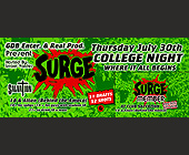 Surge College Night at Salvation - tagged with 1 drafts