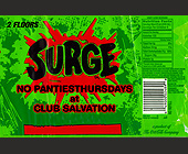 Surge at Club Salvation - tagged with shots