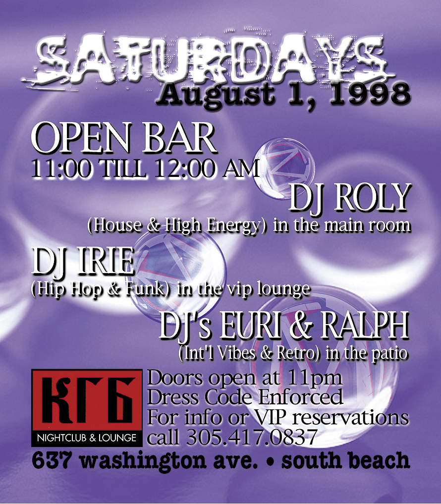Saturday at Club KBG