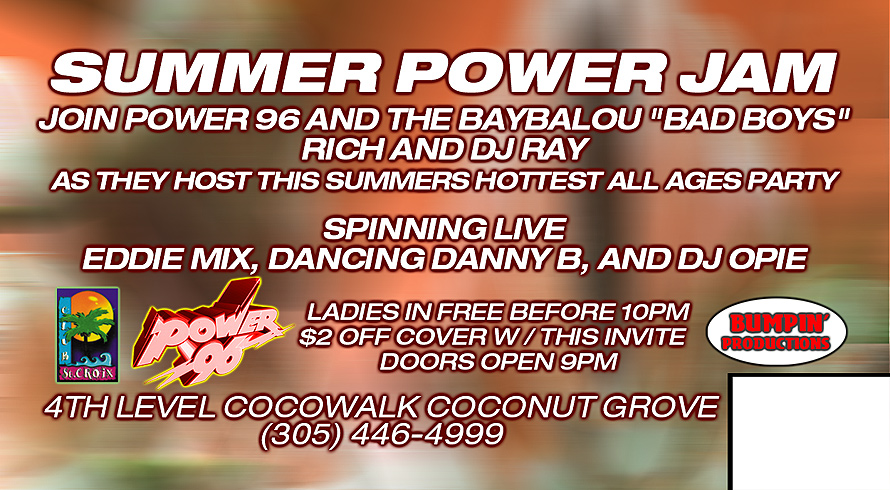Summer Power Jam Every Monday