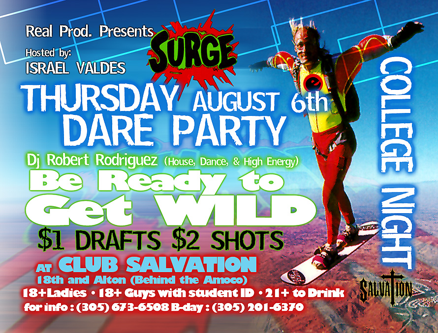 Surge Dare Party at Club Salvation
