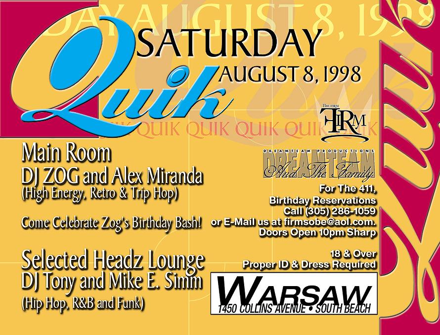 Warsaw Quik Saturday