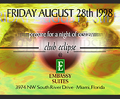 Embassy Suites Club Eclipse - tagged with doors open at 9pm