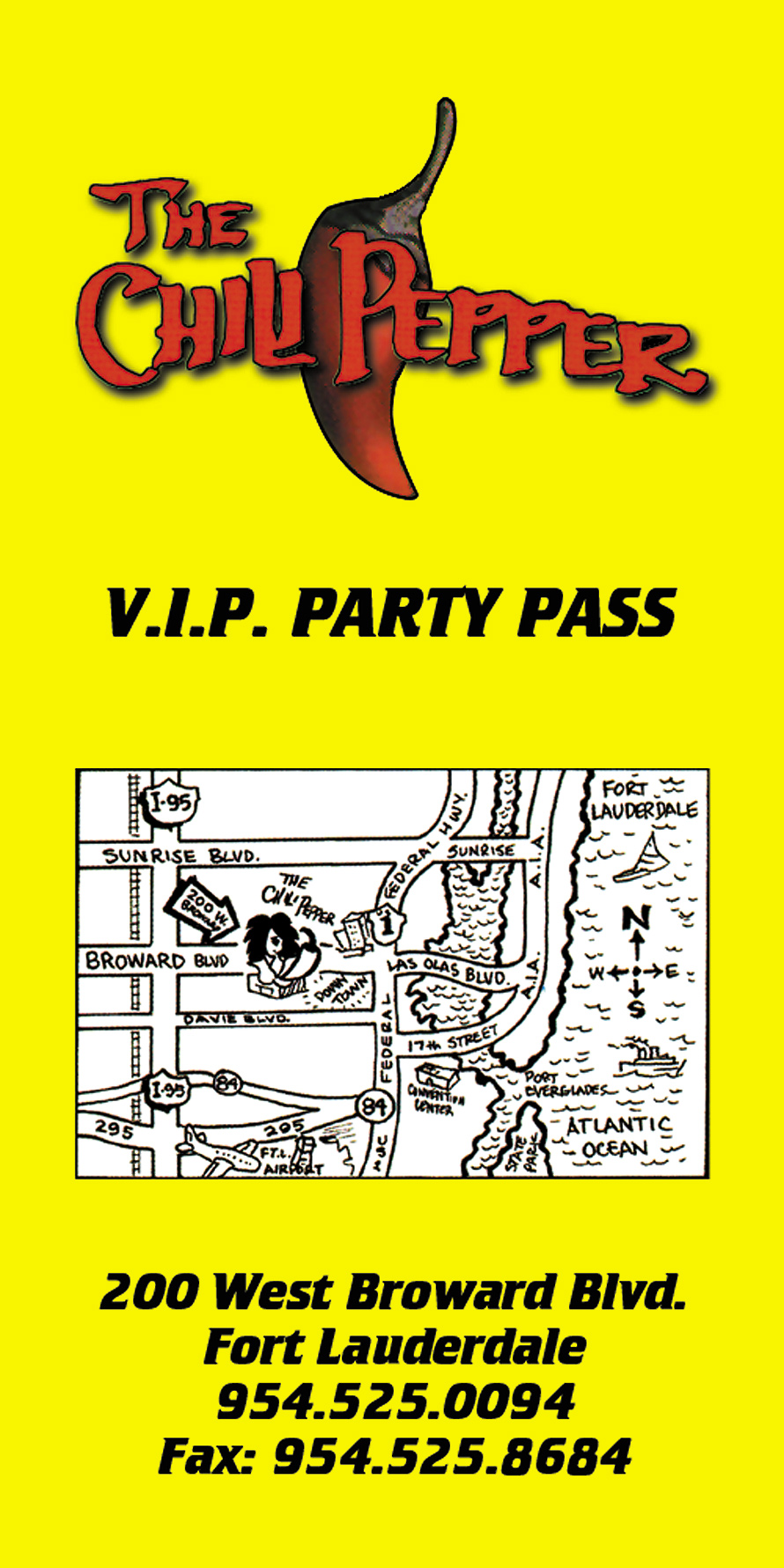 The Chili Pepper VIP Party Pass