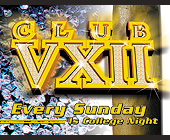 Club VXII College Night - 1200x1575 graphic design