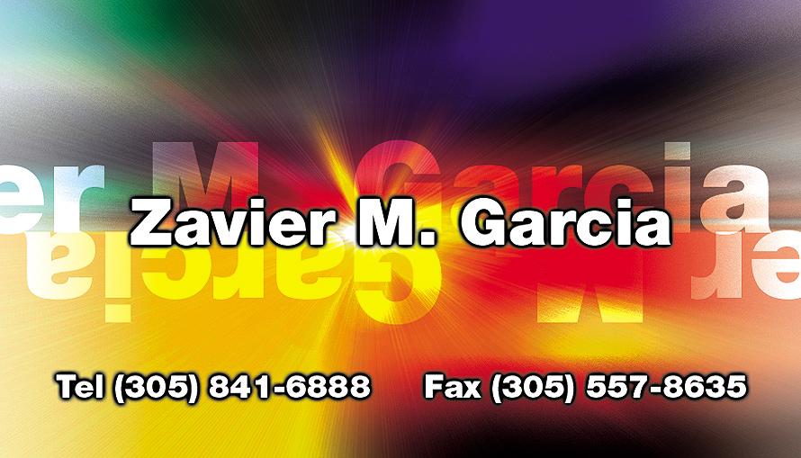 Zavier M Garcia Business Card