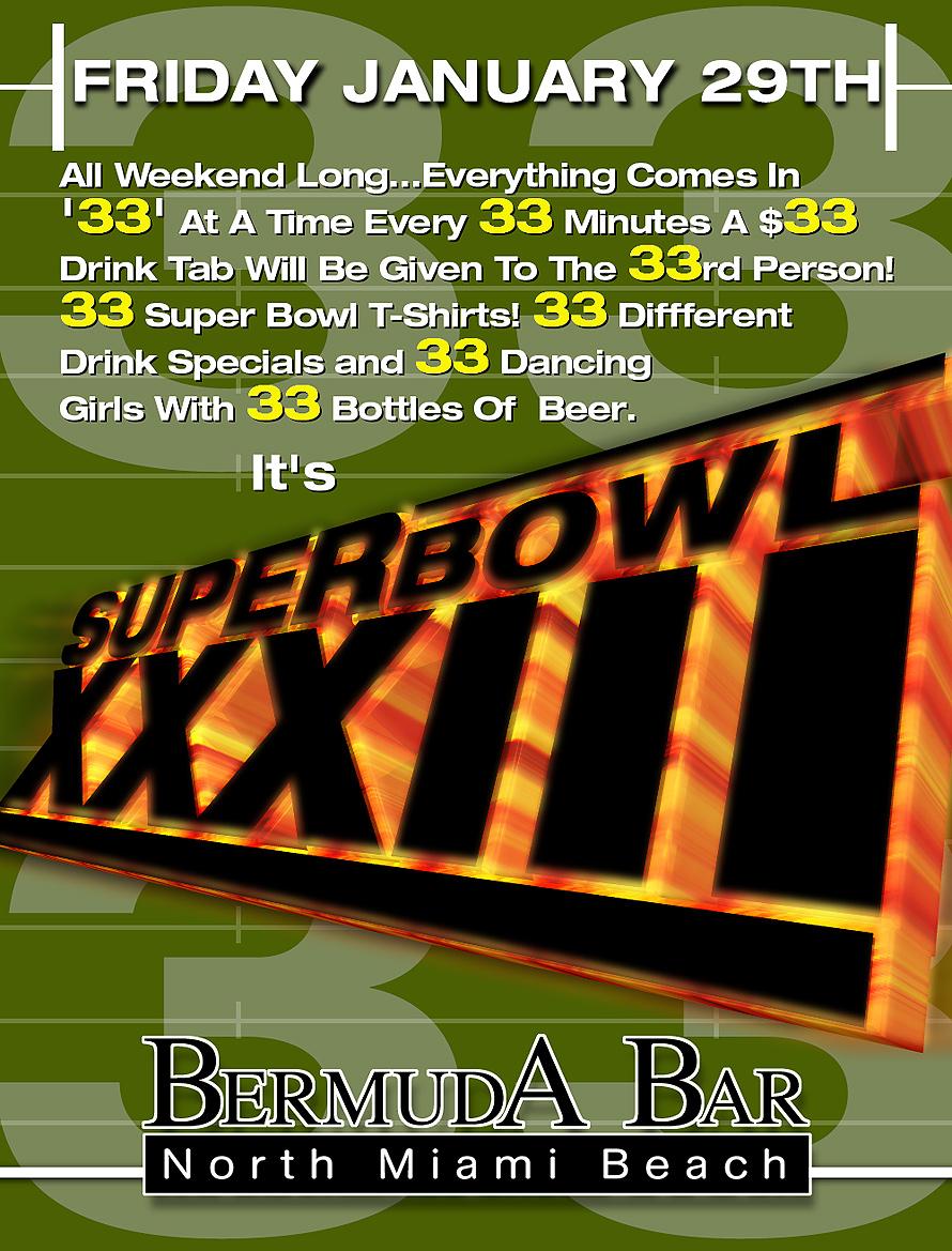 Super Bowl 33 at Bermuda Bar