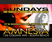 The World's Phattest College Night Sundays at Amnesia - Club Amnesia Graphic Designs