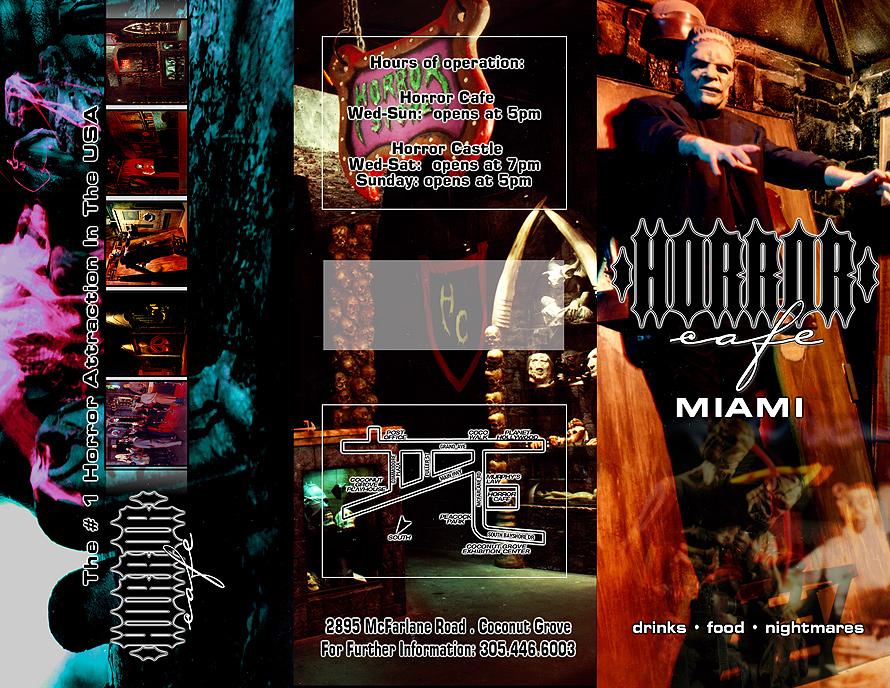Horror Cafe Brochure