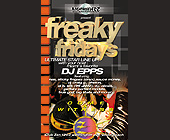 Freaky Fridays at Club Zen with DJ Epps - 1313x2125 graphic design