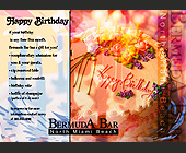Happy Birthday at Bermuda Bar - tagged with Negative image