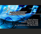 Progressive Authorized Agent Business Card - tagged with fl 33176