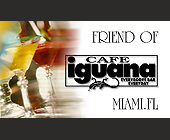 Cafe Iguana Complimentary Cocktail Card - tagged with cocktails