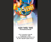 Y-100 Business Cards for Alex Ruiz - created January 1999