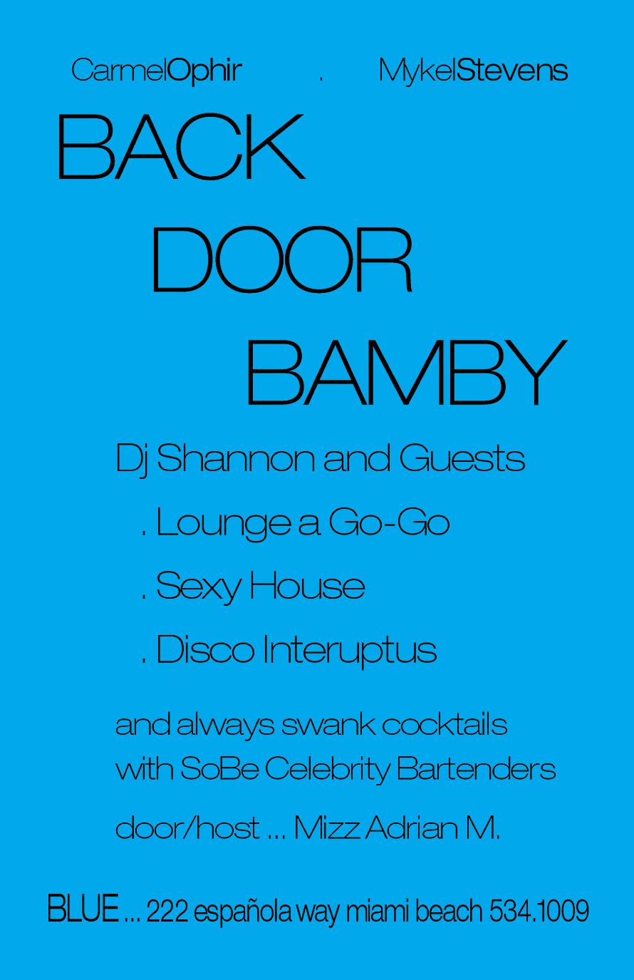 Back Door Bamby Monday Nights
