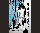 Back Door Bamby Mondays at Blue - Blue Graphic Designs