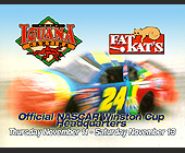 Nascar Winston Cup Quarter Finals at Cafe Iguana and Fat Kats - 1131x1463 graphic design