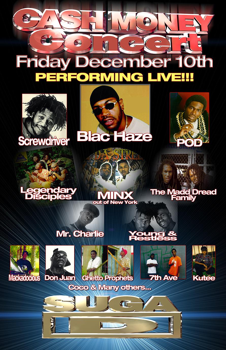 Cash Money Concert Suga D 99 Jamz