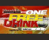 One Free Drink at Bermuda Bar in North Miami Beach - tagged with Wine Glass