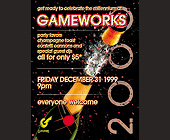 New Years Celebration at Gameworks - tagged with gameworks logo