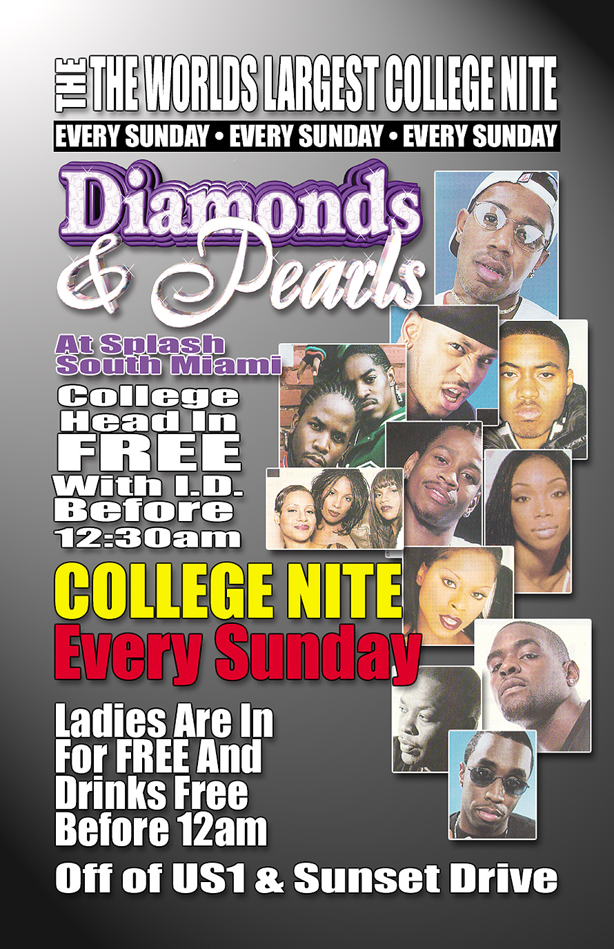 Diamonds and Pearls College Night at Splash in South Miami