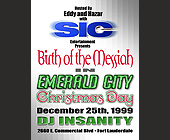 Birth of the Messiah in Emerald City on Christmas Day - created December 17, 1999