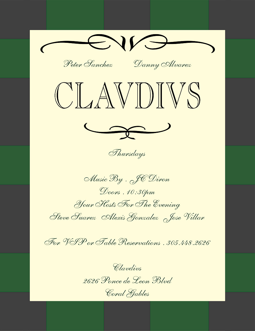 Clavdivs Thursday Nights