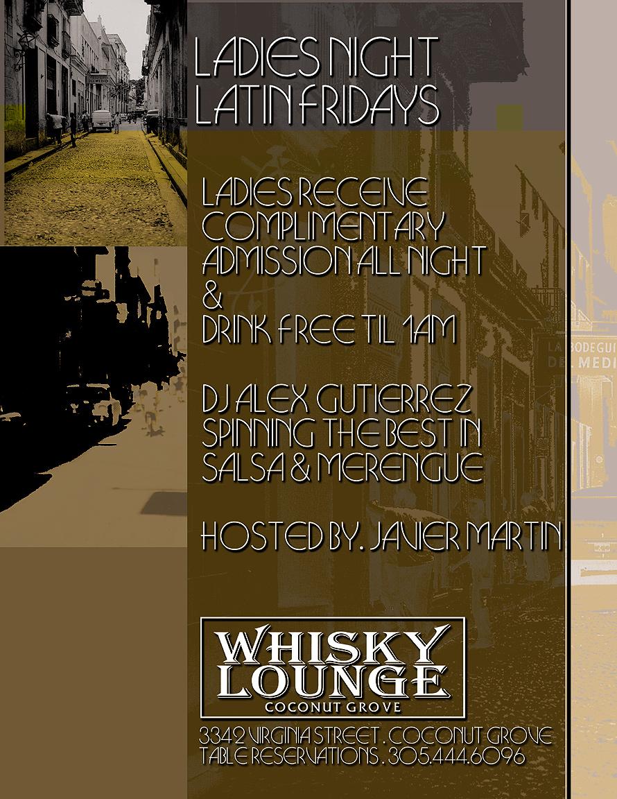 Latin Fridays Ladies Night at Whisky Lounge