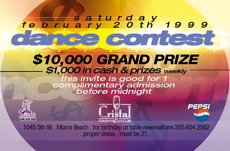 Cristal South Beach Dance Contest