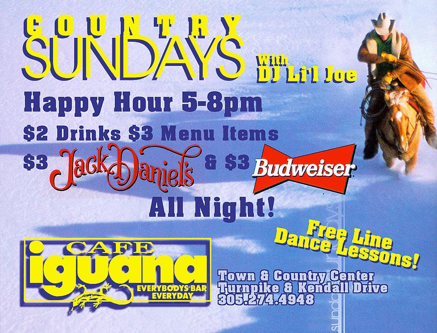 Country Sundays at Cafe Iguana