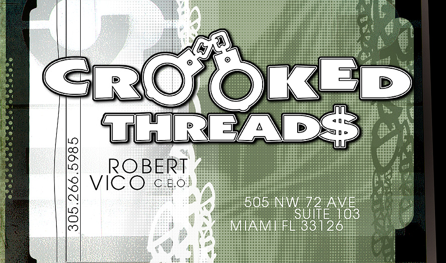 Crooked Threads Business Card