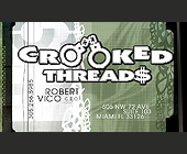 Crooked Threads Business Card - 912x537 graphic design