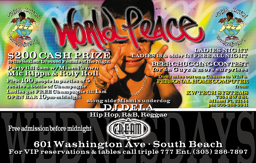 World Peace at Cream