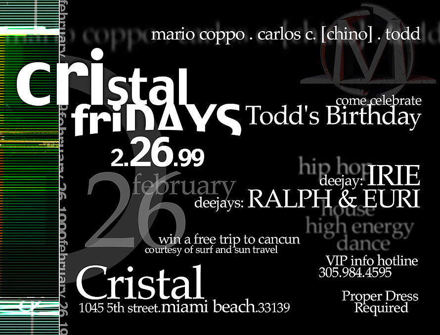 DJ Irie at Cristal Fridays