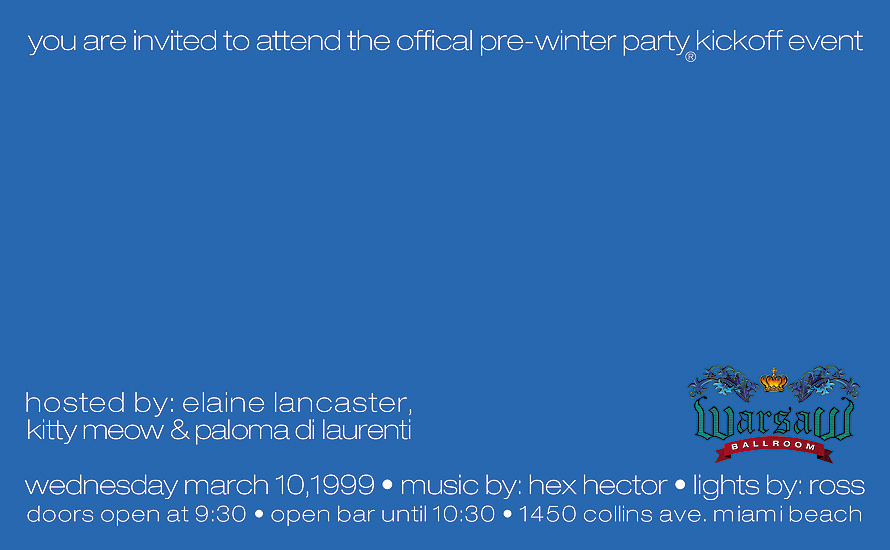 Pre Winter Party Kickoff Event at Warsaw