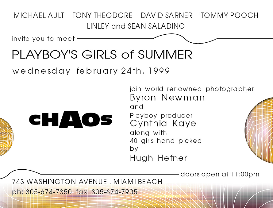 Playboy's Girls of Summer at Club Chaos