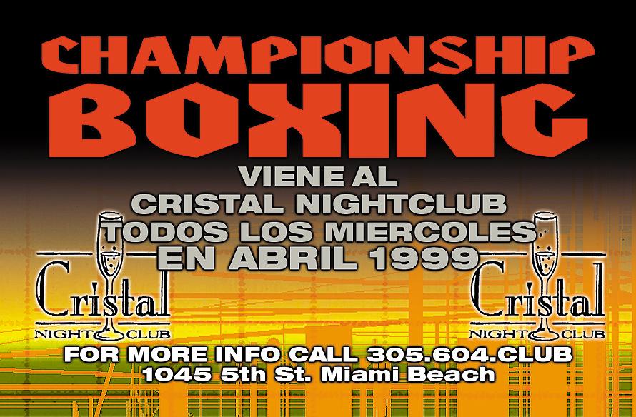 Championship Boxing at Cristal Nightclub