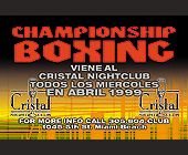 Championship Boxing at Cristal Nightclub - tagged with geometric