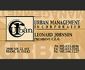 Urban Management Incorporated - 500x875 graphic design