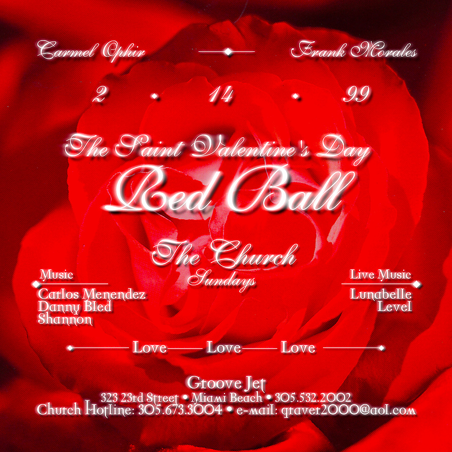 The Church Red Ball at Groove Jet