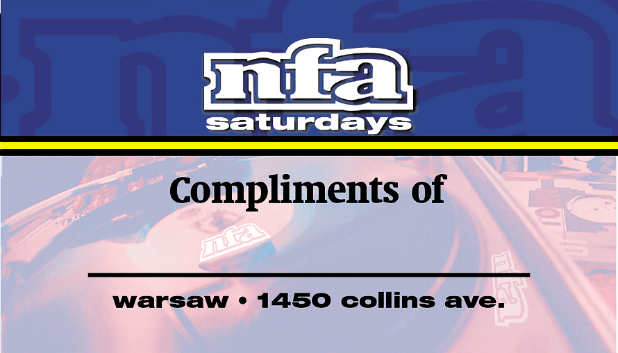 NFA Saturdays VIP Pass