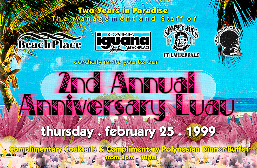 Second Annual Anniversary Luau at Beach Place