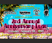 Second Annual Anniversary Luau at Beach Place - Top 40 Graphic Designs