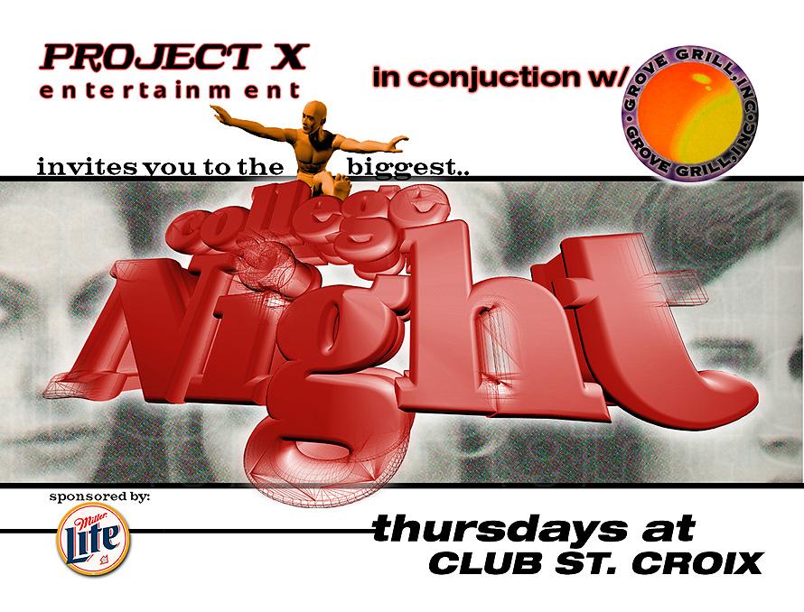 College Night at Club St Croix