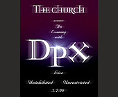 The Church DPX Live at Groove Jet - Groove Jet Graphic Designs