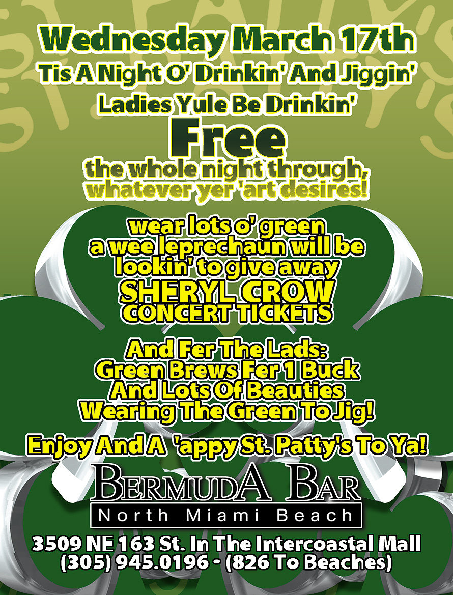 St Patty's Day Ladies Night at Bermuda Bar